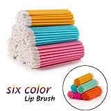 FAMILIFE 300Pcs/Set Disposable Lip Brushes Makeup Brush Lipstick Lip Gloss Wands Applicator (Multi-colored)