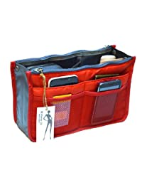 Brilliance Co Organisier Bag in Bag, Travel Storage Bag Bright Red