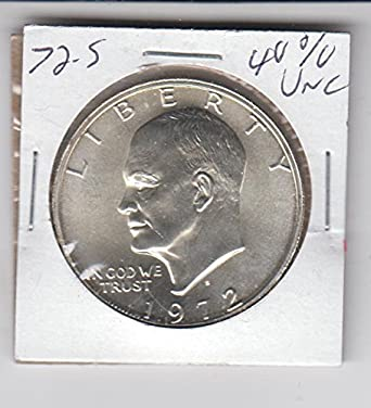 1972 S Eisenhower Dollar BU Uncirculated Mint State 40/% Silver IKE $1 Coin
