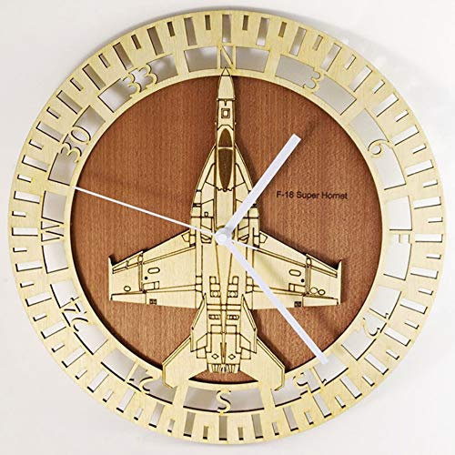 Fighting Falcon Aircraft Kit - xushihanjjli Wall Clock Creative Silent Non-Ticking Retro F-18 Fighting Falcon Wall Clock Aircraft Plane Wall Clock Personality 3D Modern Clock for Any Room in Home Dining Room Kitchen Office School