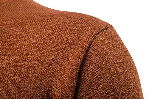 Manica Camel Uomo Fit Alto Pullover Maglia Maglione Da Dolcevita Slim Collo Lunga qR7xXFHwnZ