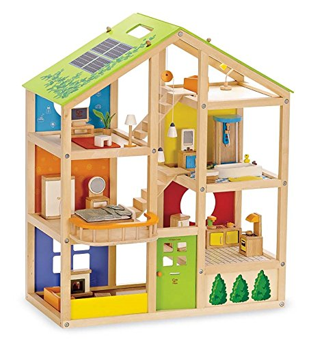 Hape Contemporary All-Season 3-Story Dollhouse with Furni...