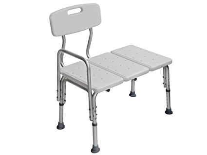 Amazon.com: TMS Adjustable Transfer Bench Chair Wheelchair ...