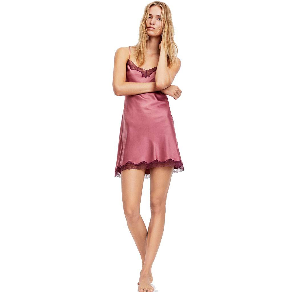 Ropa dormir de dormir Ropa Pijamas De Mujer Camisón De Arnés De Encaje Camisón Sexy Ropa Cómoda para El Hogar Pijamas Finos Regalo para Un Amante (Color : Purple, Size : L) 815342