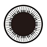 Wolala Home Black and White Geometric Piano Key Round Kids Room Non-slip Area Rugs 5 Feet by 5 Feet (5'0x5'0, 1)