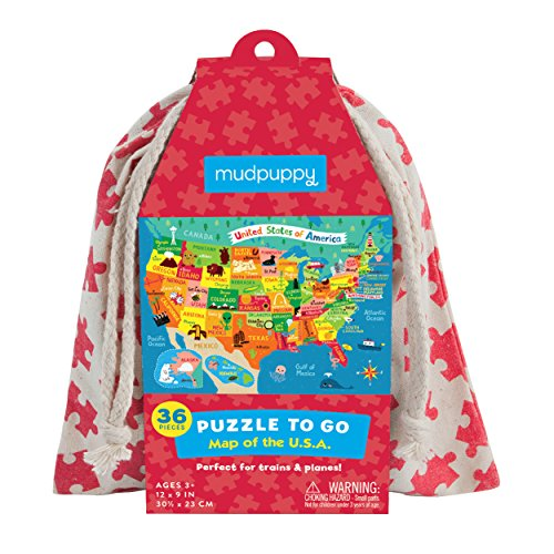 Mudpuppy Map of The U.S.A. To Go (36 Piece) Puzzle