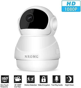 1080P Wireless Wifi Baby,Pet Monitor Panoramic Night Vision IP CCTV Camera Cloud