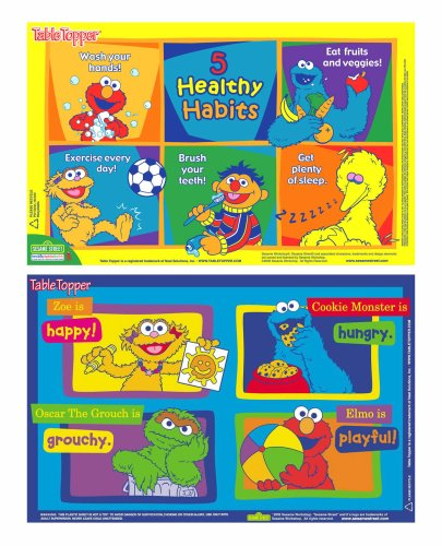 Neat Solutions Sesame Street Table Topper Disposable Stick-in-Place Placemats - 30 Count by Sesame Street (Image #1)