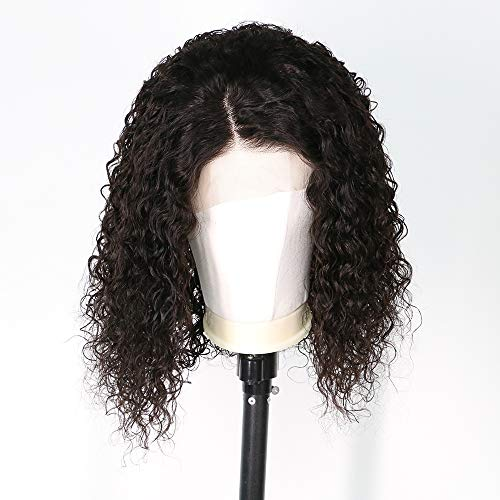 Short Curly Wig Human Hair Brazilian Lace Front Human Hair Wigs With Baby Hair Pre Plucked Bleached Knots (12inch) by RULINDA (Image #2)
