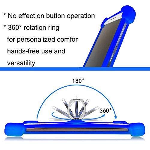 Lankashi Rose Stand Ring Holder Soft Silicone Phone Case Cover for Unimax  UMX U683CL Ans Ul40 UL50 L50 u452tl U683CL U504TL U673c / Orbic Wonder