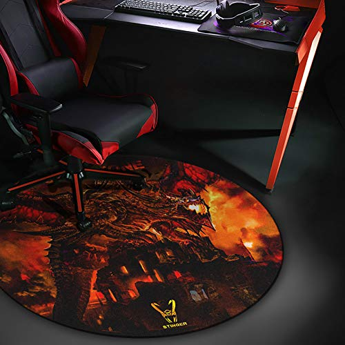 Woxter Stinger Floorpad Red - Alfombrilla Gaming de Suelo, Tapete Protector para Suelo - Resistente al Agua, Lavable, 100% Microfibra, Diametro 120 cm, Color Rojo