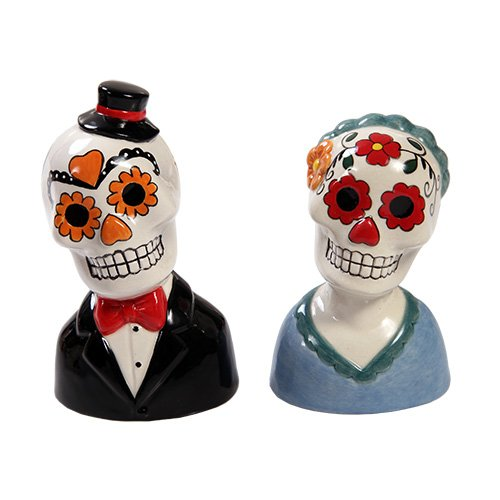 Mexican Traditional Wedding Couple Sugar Skulls