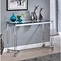 Furniture of America Margonez Contemporary Console Table in Clear