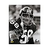 Jack Lambert Autographed Steelers 8x10 Photo (Black & White) - Lambert 58 Hologram