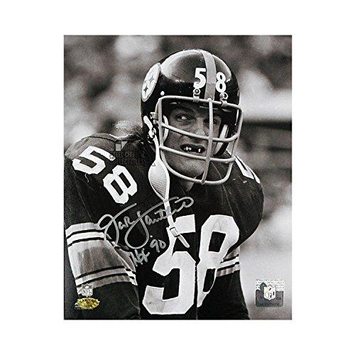 Jack Lambert Autographed Steelers 8x10 Photo (Black & White) - Lambert 58 - Park Pittsburgh Ross