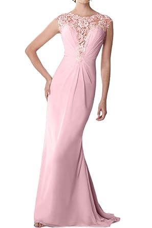 Prom Style Elegant Meerjungfrau Chiffon Abendkleider Ballkleider Promkleider  mit Spitze lang Mermaid Brautmutterkleider
