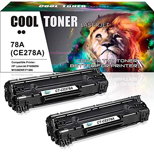 (Cool Toner Compatible Toner Cartridge Replacement for HP 78A CE278A Toner HP Laserjet P1606dn 1606dn HP Laserjet M1536dnf 1536dnf MFP HP Laserjet P1566 P1560 Toner Cartridge Printer Ink (Black,2-Pack))