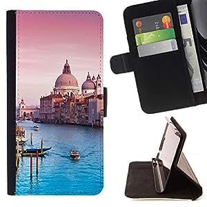 For Samsung Galaxy S4 IV I9500 Case , Arquitectura Catedral Venecia- la tarjeta de Crédito Slots PU Funda de cuero Monedero caso cubierta de piel