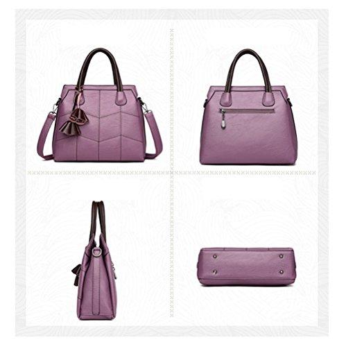 à Et AJLBT Sac Et Cuir Messenger Main Amérique Bandoulière Purple été Sac Sac En à Europe Pour Mode Printemps Souple Femme Sac r0Bp0qSv
