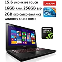 Lenovo Y50 15.6 4K IPS Touchscreen Gaming Laptop / i7-4720HQ / 16GB / 256GB SSD / GTX 960M 2GB / WiFi / Webcam / Bluetooth / Windows 8.1 / Black