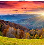 WindowPix 36x36 Inch Decorative Static Cling Window Film Magical Tuscan Sunrise . Printed on Clear for Window Glass panels. UV protection, Energy Saving.