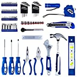 Vastar 102 Piece Home Repair Tool Kit, General Household Tool Kit for Home Maintenance with Plastic Toolbox Storage Case