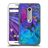 Official Haroulita Blue Gold 2 Marble Hard Back Case for Motorola Moto G (3rd Gen)