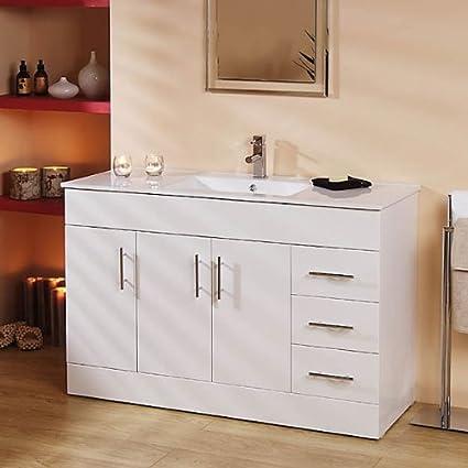 1200 Vanity Unit Basin With Cabinet White 4 Vanity Units 1000