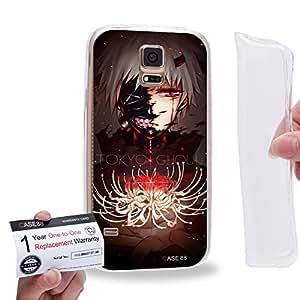 Case88 [Samsung Galaxy S5] Gel TPU Carcasa/Funda & Tarjeta de garantía - Tokyo Ghoul ¡ÔA Tokyo Ghoul: RE Tokyo Ghoul Jack Kaneki Ken CCG Haise Sasaki 1808
