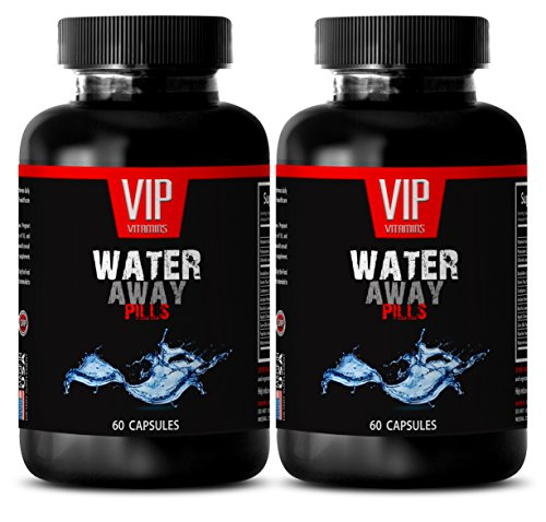 Bloating relief and weight loss - WATER AWAY DIURETIC PILLS - Detox Cleanse Weight Loss Pills - 2 Bottles 120 Capsules
