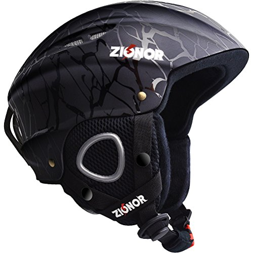 ZIONOR Lagopus H1 Ski Snowboard Helmet for Men Women - Air Flow Control Adjustable Fit