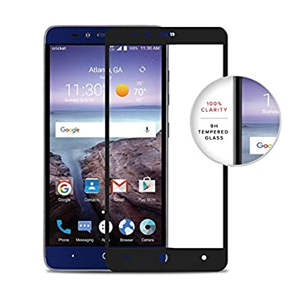 Zizo ZTE Grand X Max 2 Screen Protector Tempered Glass [Case Friendly] 9H Hardness Full Clear Screen Guard-Imperial Max-Max Duo-Zmax Pro-Blade X Max