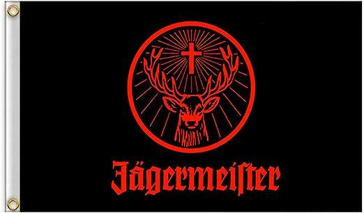 Hemore Bandera gigante de Jagermeister negra, tamaño 90 x 150 cm ...