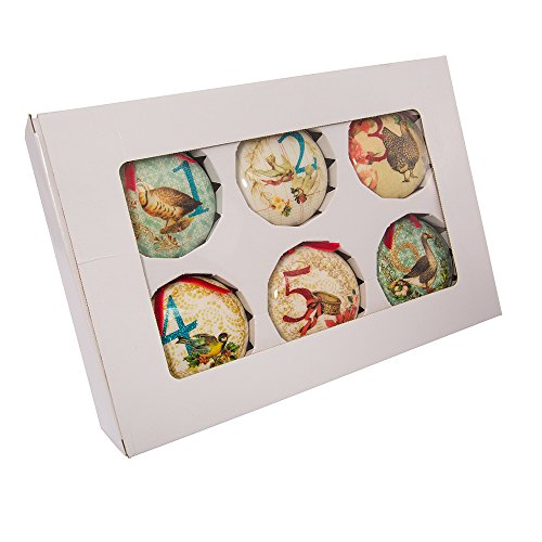 Kurt Adler 85mm Decoupage Ball Ornament Set of 12, 12 Piece -