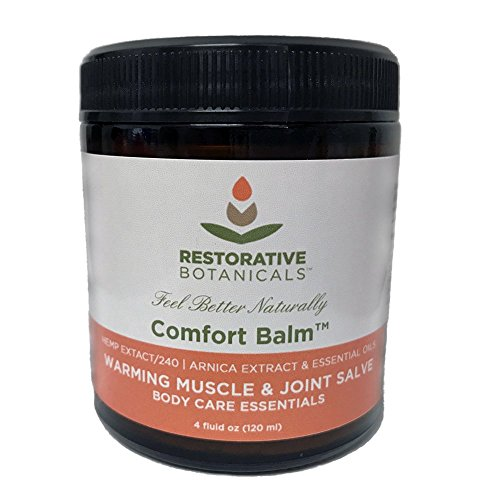 Comfort Balm Hemp Oil Extract Salve 240 mg FAST Muscle & Joint Relief 4 ounce Hemp and Arnica oil Salve Restorative Botanicals (Comfort Soothing Balm)