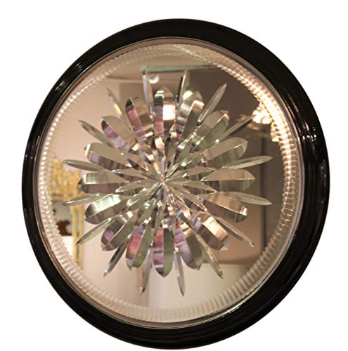 Global Views Luxe Antique Style Cut Glass Round Mirrored Tray | 23