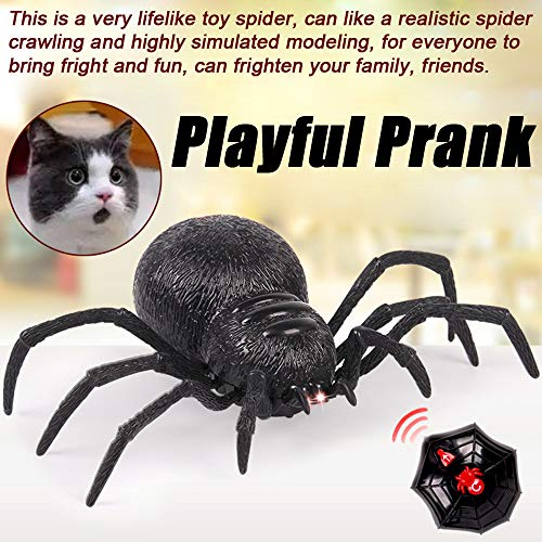Fiaya Halloween Remote Control Spider Scary Wolf Spider Robot Realistic Novelty Prank Toys Gifts]()