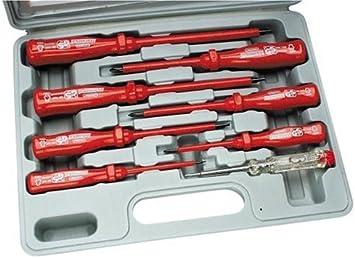 Mannesmann - M 1187-8-PL - Juego de destornilladores 8 piezas VDE-GS: Amazon.es: Bricolaje y herramientas