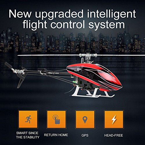 Smart Drone 450L 6CH RC Helicopter 450L 6-axis-Gyro Flybarless GPS RC Helicopter RTF 2.4GHZ RC GPS RC Helicopter RTF 2.4GHZ (red)