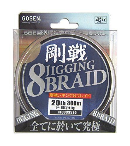 ゴーセン(GOSEN) ライン 剛戦ジギング 8BRAID 300m 20lb(1号) GL8333520 5色分の商品画像