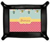 Easter Birdhouses Genuine Leather Valet Tray (Personalized)