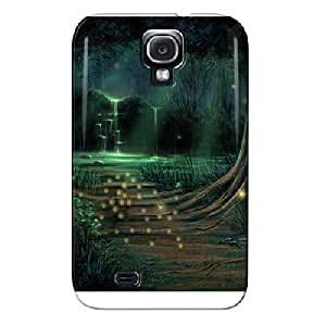 TPU ENCHANTED WISP FOREST Black Shock Absorption For Sumsang Galaxy S4 Protective Case