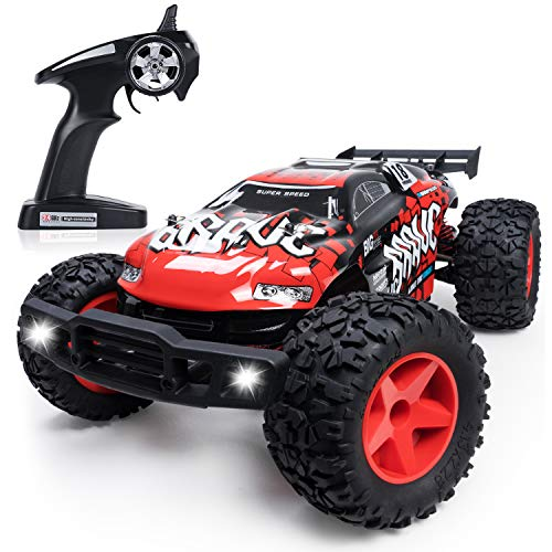 (Large Remote Control Car Off Road, 1/12 Scale RC Electric Rock Crawler 4WD High Speed Racing Monster Truck Vehicle for Adults and Kids)