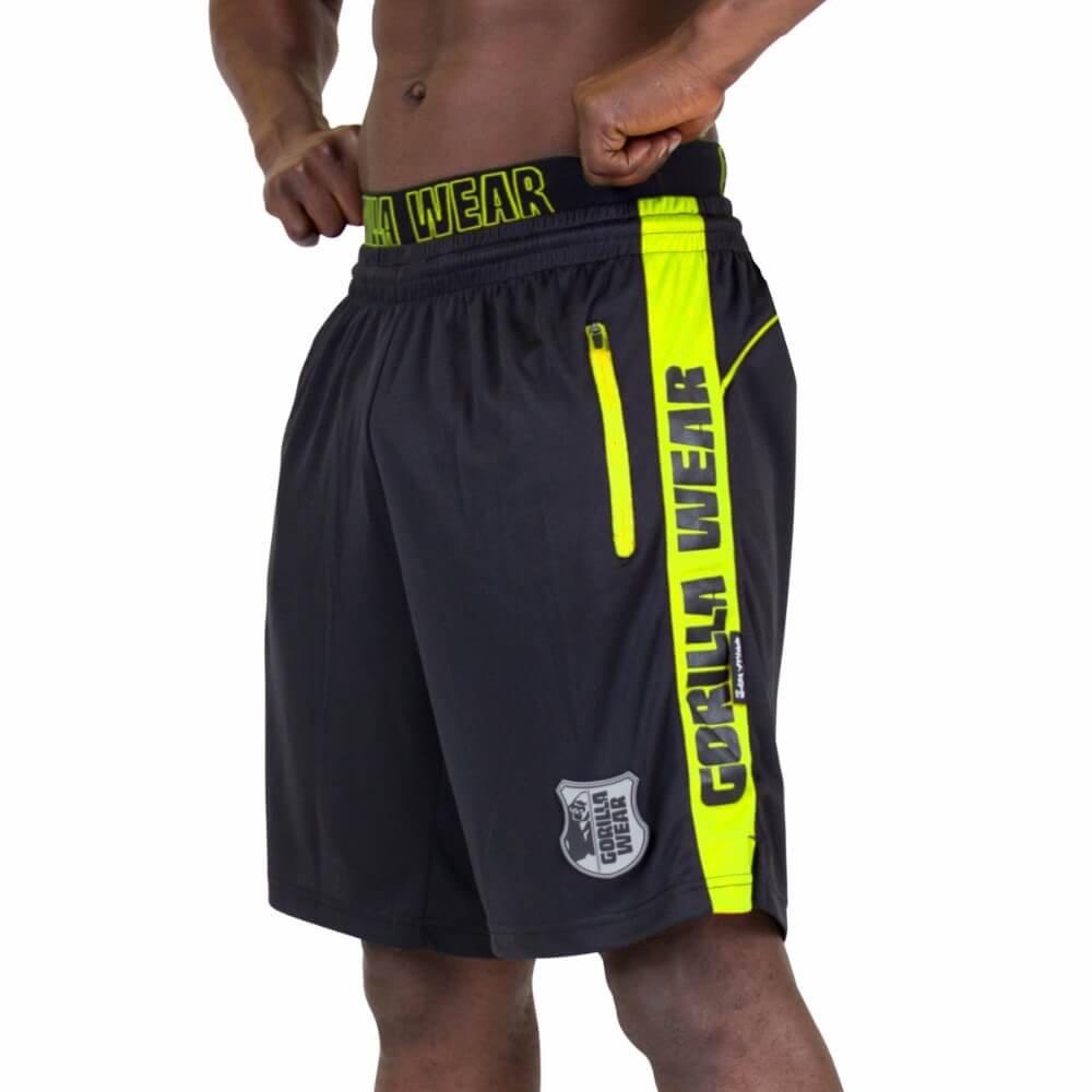 Gorilla Wear Shelby Shorts - Black/Neon Lime, L 9091492003_Black/Neon_Lime_L
