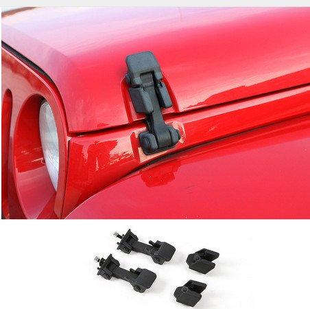 Highitem Car Styling Black Lock Hood Lock Hood Latch Catch For Jeep Wrangler JK (Wrangler Hood Lock)