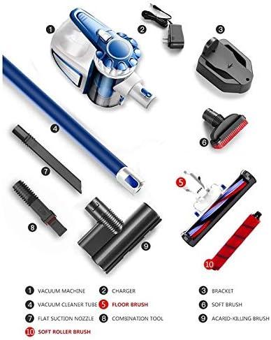 LQPOUXCQ aspirateur balai Portable 2 En 1 De Poche Sans Fil Aspirateur Cyclone Filtre 8900Pa Forte Aspiration Collecteur De Poussière Aspirateur (Color : Golden) Blue