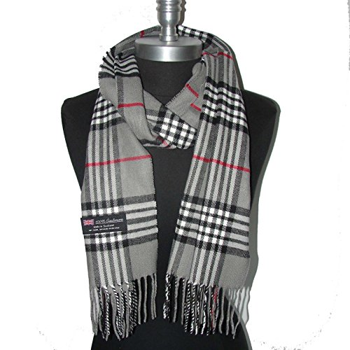 Gray_Made in Scotland SCARF SCARVES Soft Warm Tartan Plaid - LA02SM (US Seller)