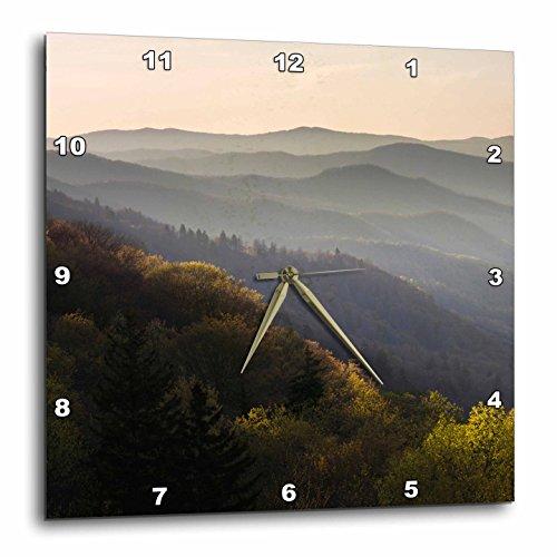North Carolina Desk Clock - 3D Rose dpp_93187_1 3dRose Oconaluftee, Great Smoky Mountains, North Carolina-US34 AJE0161-Adam Jones-Wall Clock 10-inch