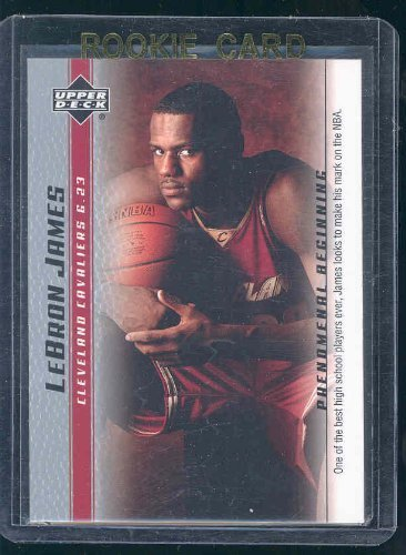 2003 Upper Deck Phenomenal Beginning #10 Lebron James High School Rookie Card - Mint Condition in a Brand New Holder
