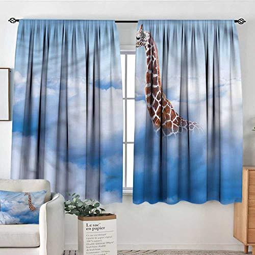 Giraffe,Modern Kids Curtain Heaven Fantasy Themed 52